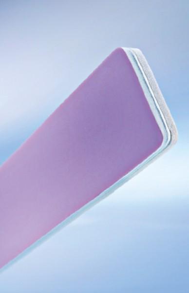 Polierfeile breit weiß/rosa