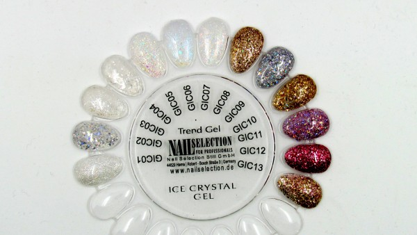 Ice Crystal Gel White Flakes